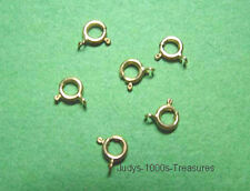 14k YELLOW SOLID GOLD SPRING RINGS 5.5mm. AVERAGE 13gr. MADE IN ITALY