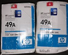 (2)GENUINE NEW  HP Q5949A 49A LaserJet TONER CARTRIDGES 1160 1320 3390 3392