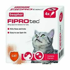 Beaphar Fiprotec Flea & Tick Removal Prevention Spot On Cat 4 Treatment Pack