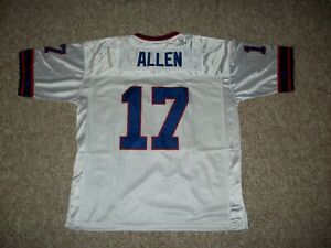 JOSH ALLEN Unsigned Custom Buffalo Sewn White New Football Jersey Sizes S-3XL