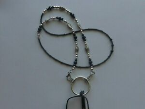 OWLS LOOP NECKLACE LA NECKLACE CHAIN EYEGLASS READING HOLDER + LOBSTER CLASPS