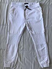 ZARA MAN White Jogger Fit Motorcycle Pants Size XL