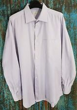Ermenegildo Zegna Men's Dress Shirt 17.5 (44) Blue Checks Spain EUC CLEAN! A249