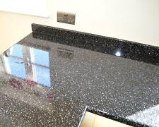 Strass Noir  Kitchen Worktop Laminate 3 Metre X 600 X 40mm.CURVED EDGE