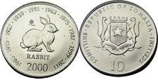 elf Somalia Republic 10 Shilling 2000 Zodiac Rabbit