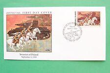 1989 1939 Isole Marshall invasione della Polonia FRANCOBOLLO Copertura SNo42717