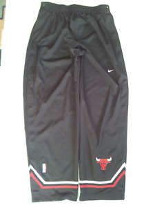 VINTAGE RARE NIKE CHICAGO BULLS AUTHENTIC TEAR AWAY WARM UP SHOOTING PANTS XL