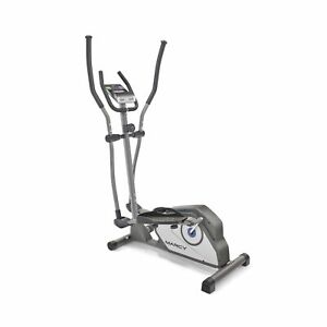 Marcy Elliptical Trainer Cardio Workout Machine Magnetic Grey Standard NS40501E