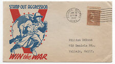 "WWII V for Victory Patriotic Cover "" Stamp out Aggression """