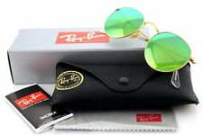 POLARIZED New RAY-BAN ROUND Metal Mirror Gold Green Sunglasses RB 3447 112/P9 50