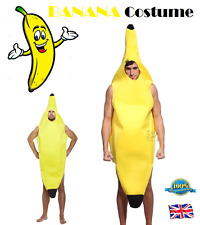 BANANA COSTUME Fancy Dress Outfit Unisex Fun Stag Party Novelty Banana Body Suit