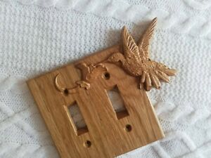Hummingbird Light Switch Cover - Oak, Free Shipping