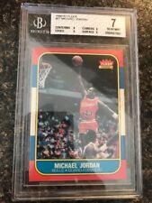 1986-1987 Fleer #57 Michael Jordan Rookie RC BGS 7 Chicago Bulls HOF 6x champ