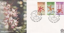 INDONESIA 1980 FIRST DAY COVER - FLOWERS - ORCHID - RED LORY - YELLOW LORY