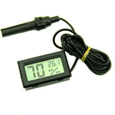 LCD Temperature Digital Thermometer Hygrometer Humidity Meter Tester Probe New