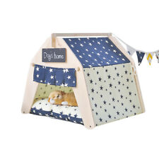 Star Washable Indoor Outdoor Kennel Dogs House Puppy Pets Teepee Tent Mats Home
