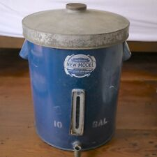 "Antique ""NEW MODEL"" Blue 10 Gal Primitive Rustic Farm Gravity Cream Separator"
