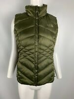 Women's The North Face Aconcagua Goose Down Vest 550 Fill Green Size S