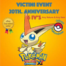 Pokémon ORAS / XY – VICTINI EVENT POKÉMON 20th ANNIVERSARY 6IV's - ANY NATURE