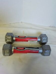 Athletic Works 3 Lbs=6 Pounds Cast Iron Dumbbell Set/ Pair Hand Weight Walk