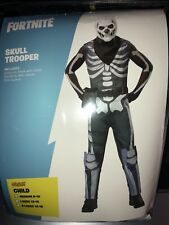 0006e45c88 NEW Fortnite Kids Skull Trooper Halloween Costume Medium 8-10 (Spirit Brand)