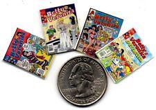 4 Miniature - 'Archie's Girls'   'Betty & Veronica'  Comics -  Dollshouse 1:12
