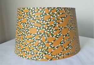 Hand painted empire lampshade camouflage pebble mosaic crazy paving retro style