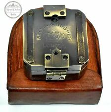 Solid brass kelvin & Hughes 1917 Brenton Compass / antique compass handmade gift