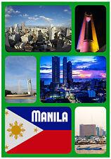 FILIPINAS, MANILA - RECUERDO ORIGINAL Imán de NEVERA-MONUMENTOS/Ciudades-