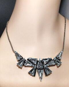 Strass Collier - Crystal/Schwarz - 1A-Qualität von Jablonex - sc184