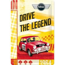 BMW MINI - DRIVE THE LEGEND  Blechschild 20x30 cm  - Sign  22245 COOPER
