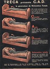 PUBLICITE ADVERTISING  1950  TRECA le générateur de relaxation lits