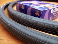 *New 700x23c Pair of Black Tires + Tubes Road Track Fixie Bike Tire 120psi
