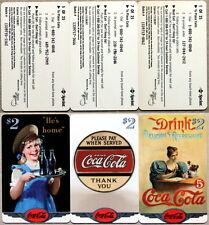 set of 25 mint SCORE BOARD COCA-COLA PHONE CARDS - COKE NATIONAL ´96 $ 2 SILVER