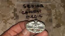 US ARMY   SILVER TONE SENIOR COMBAT MEDIC BADGE NEW OLD STOCK