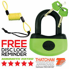 MAMMOTH THATCHAM APPROVED MINI SECURITY U-DISC LOCK MOTORCYCLE SCOOTER MOTOCROSS