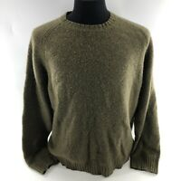 Vintage J Crew Mens Size XL Pull Over Sweater 100% Wool Green Crew Neck  I3B
