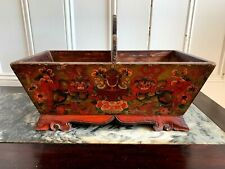 Antique Tibetan Hand Painted Offering box~CHIMAH~New Years