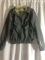 Bench UrbanWear Womens Zip Up Hooded Coat Parka Gray US Size 10 - Large