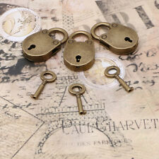 Vintage Old Archaize Antique Style Mini Padlocks Key Lock With key (Lot Of 3)