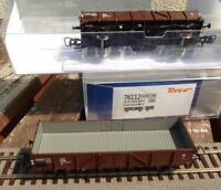 Roco 76112 Güterwagenset 2 Stück offene Güterwagen El 5100 der ÖBB Ep.4 H0, Neu