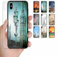 For OPPO Series - City Landmark Print Tempered Glass Back Case Phone Cover #2