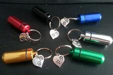 6 pcs Key Ring keychain- Memorial Cremation  Ash Keepsake urn Pet paw charm