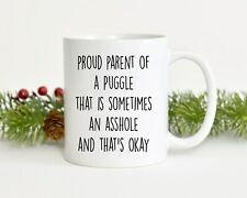 Puggle Mug Best Puggle Gift Funny Mug For Puggle Mom Puggle Gift For Dad