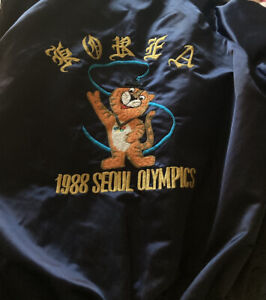1988 Seoul Olympics blue bomber jacket Vintage, Rare