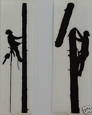 2 X POLE CLIMBERS Stickers/Decals Tree Surgery/Forestry/Tree Surgeon use.