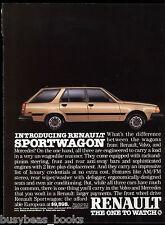 1984 RENAULT SPORTWAGON advertisement, AMC Renault station wagon