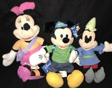 "Disney Mickey Mouse 9"" Brave Little Tailor Plush 12"" & 13"" Minnie Doll Lot Of 3"