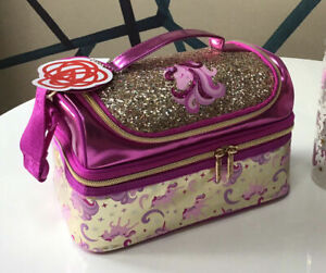 Girls Smiggle Gold Unicorn Double Decker Sandwich Lunch Bag Box Strapped 🌈 FAB