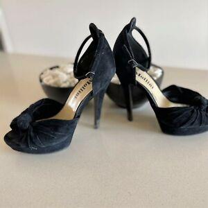 Mollini Black Suede Heels, Size 39(8)